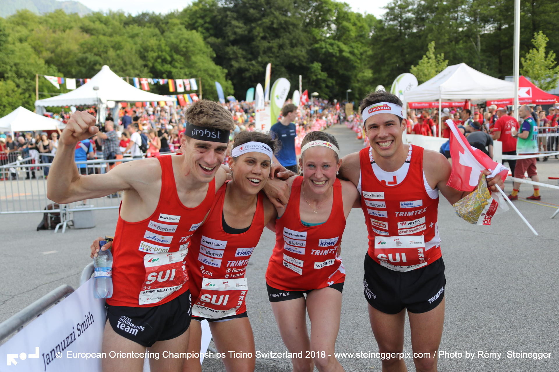 Switzerland wins the sprint relay in a brilliant way